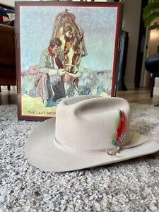 StetsonRange 6X Cowboy Hat — Silverbelly — 7 5/8 (61cm)