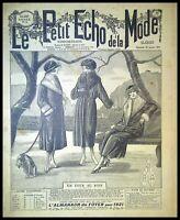 Le Petit Echo de la Mode année 1921, Ancien magazine Français N°4