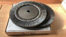 lot de deux brosses circulaire fil 0.30 acier 250x22 mm  touret alésage 20 mm