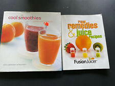 Smoohie Recipes & Remedies Cookbooks- Lot Of 2 Cool Smoothie/Raw And Juice