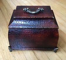 Faux animal skin Treasure Chest Decorative Box Indian Oriental Shabby Chic Decor