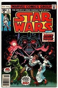 """Star Wars #4 Marvel Comics 1977 """"Death"""" of Obi-Wan Kenobi"""