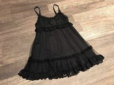 Lip Service Baby Doll Mini Dress Goth Punk Gothic Size XS P Black Lace