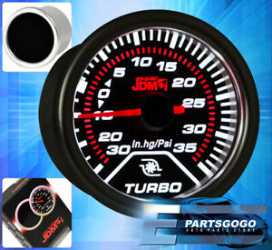 "JDM 2"" Turbo Boost Gauge Smoked Tint 52mm Gmc Yukon Sierra 2500 3500 Hd Acadia"
