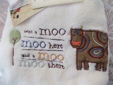 NEW BEANSPROUT BABY BLANKET WITH A MOO MOO COW FARM VELOUR TREE PEM AM UNISEX