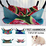 Hamster Guinea Pig Hammock Hanging Cage Nest Bed House Double Layer Canvas Toy