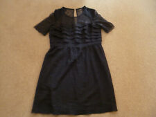WHISTLES BLUE LACE DRESS,16,