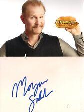 Morgan Spurlock genuine signed autograph on white card + photo ! Super Size Me