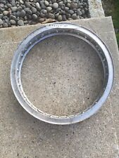 "2.25"" X 18"" -36 hole Akront Italian style flanged alloy vintage motorcycle rim"