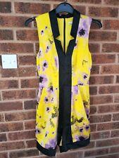 Karen Millen Yellow Oriental Print Playsuit Size 8