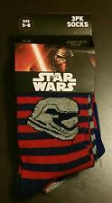 Star Wars Force Awakens 3 Pairs Kids Socks Size 5-8 BNWT