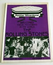 Programme Concert Program THE ROLLING STONES Pontiac Silverdome Nov. 30, 1981