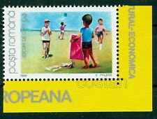 1989 Children playing kites,Drachen - Children Games & activities,Romania,Mnh