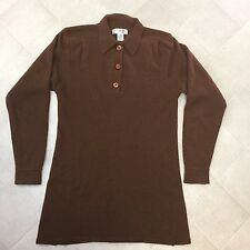 Christian Dior Separates Sweater Pullover Long Women's Lambswool Angora Brown