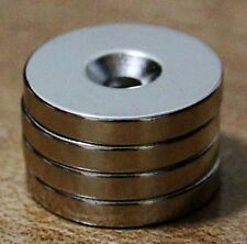 4 pcs N50 30mm x 5mm 5mm-hole Round Neodymium Permanent Ring Magnets With Hole