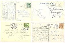 NEDERLAND  S.M.N. 1924/1929  4 x PPC SHIP = S.S. JOHAN DE WITT= POSTAGENT  F/VF