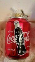 Kurt Adler Coca Cola Polonaise By Komozja Ornament Coke Can 1996 Made in Poland