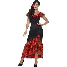 Flamenco Senorita Costume Spanish Mexican Dancer Women's Fancy Dress Costume