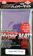 KMC 80 MATTE MAGIC MTG CARD BARRIER SLEEVES DECK PROTECTORS - HYPER MAT PURPLE