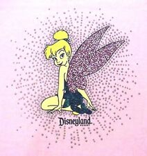 Tinker Bell Tinkerbelle Pink with Silver Bling Disneyland T-Shirt - Adult 1X NEW