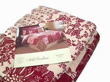 Noble Red Multi Colors Anna Belle Floral Patchwork Stripe King Quilt Brand New