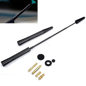 11.5-28cm Black Universal Car Carbon Fiber Screw Auto Mast Radio Aerial Antenna