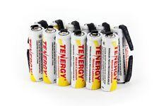 12 pcs Tenergy AA NiCd 1000 mAh Batteries Flat Top with Tabs