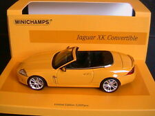 JAGUAR XK CONVERTIBLE 2005 YELLOW LINEA GALLIO MINICHAMPS 436130530 1/43 CABRIO
