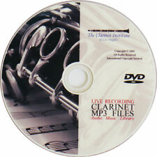Clarinet Music MP3 Archive Collection DVD