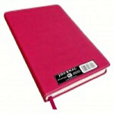 Pink Notebook Medium size Journal Leather-Like Cover 200 Lined Pages 100 GSM NEW