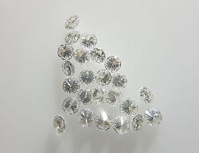 100% Real 2.6mm F Color 5pc 0.30cts Natural Loose Brilliant Diamond VS2 Clarity