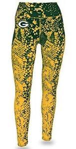 Zubaz Green Bay Packers Womens Size Small Gradient Print Leggings  C1 1441