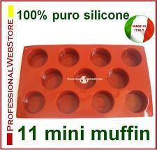 STAMPI STAMPO FORME FORMINE SILICONE 11 MINI MUFFIN MUFFINS PICCOLINI MINIMUFFIN