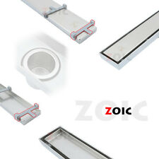 Rectangle 300-1800mm Stainless Steel Linear Waste Hair Grate Floor Drain Channel