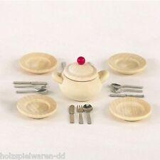 Bodo Hennig 27060 Miniatura Speiseservice Acero 1:12 per case di bambole legno #