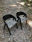 Pair of Mid Century Modern Allan Gould Compass Chairs for Herman Miller ~ Black