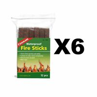 Coghlan's Waterproof Fire Sticks Tinder Emergency Fire Starters (6-Pack of 12)
