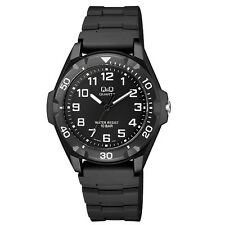 Q&Q VR70J001Y By Citizen Black Resin Black Dial Analog Sport Round Watch