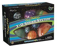 3D Hanging Solar System Model Glowing Student Kids Dorm Room Home Ceiling Kids