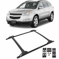 For 09-17 Chevy Traverse Roof Rack Cross Bar & Side Rail Package Combo Set