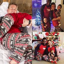 Family Matching Christmas Women Men Adult Kids Xmas Sleepwear Nightwear Pajamas