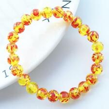 Unique Handmade Amber Beads With Resin Beaded Bracelet Women Jewelry Gift LC