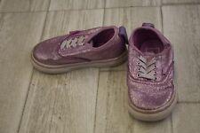 *Vans 721278 Sneaker - Toddler Girl's Size 6, Purple Glitter