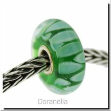 Authentic Trollbeads Glass 61410 Green Shadow :0 RETIRED