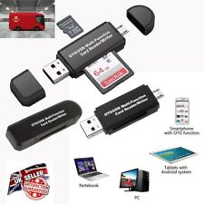 UK Micro USB OTG to USB 2.0 Adapter SD Card Reader For Android Phone Tablet PC