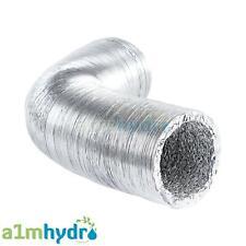 Aluminium Ducting 6 Inch 150mm 5M Meters Flexible Foil Ventilation Hydroponics