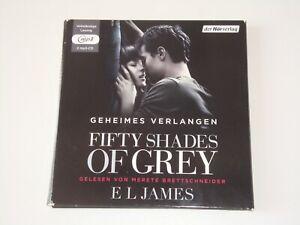 *GEHEIMES VERLANGEN* HÖRBUCH E.JAMES GELESEN BRETTSCHNEIDER 2 MP3 CDs 17,5 Std.