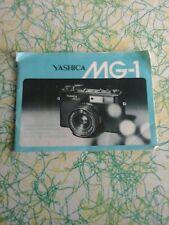 Genuine Yashica Mg-1 Instruction Booklet Complete Oem Vintage Manual Guide Book