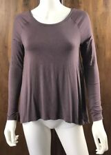 American Eagle AEO Soft & Sexy Mauve Purple Lace Back Long Sleeve Top Size XS