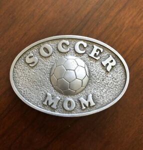 Soccer Mom Mother's Day Gift Sports Mommy Football Metal Women's Belt Buckle